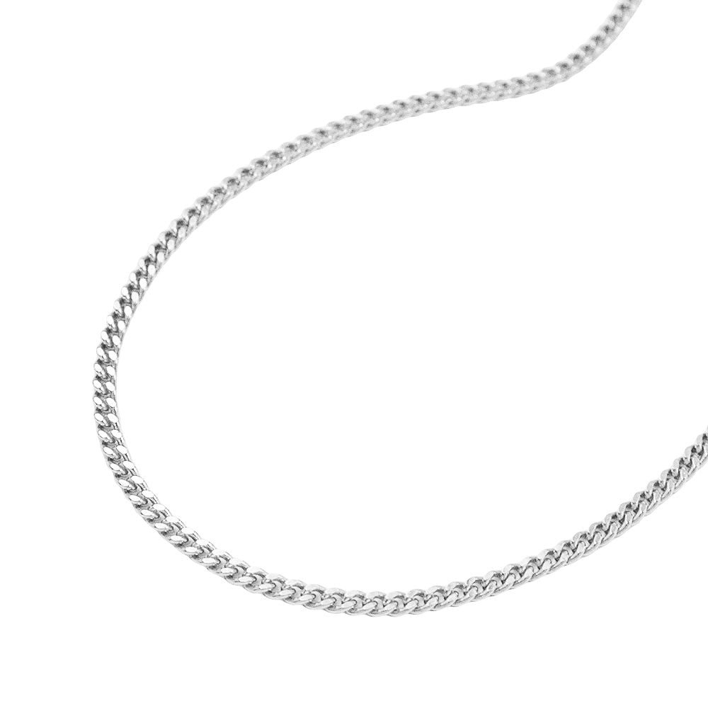 THIN CURB CHAIN DIAMOND CUT SILVER 925 36CM
