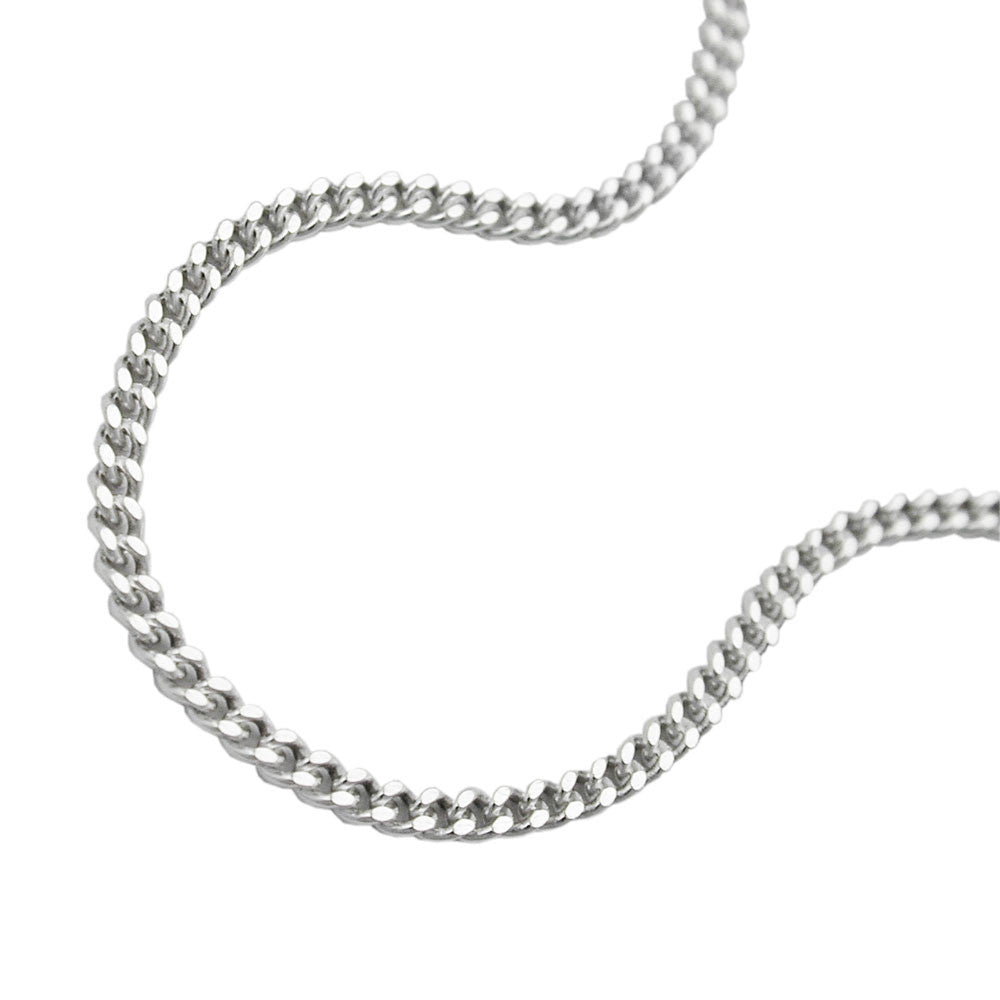 NECKLACE THIN CURB CHAIN SILVER 925 42CM