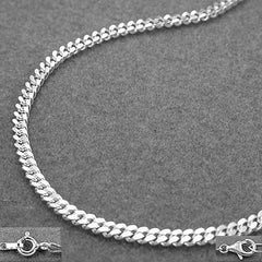 NECKLACE THIN CURB CHAIN SILVER 925 60CM
