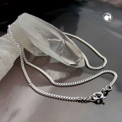 NECKLACE THIN CURB CHAIN SILVER 925 50CM