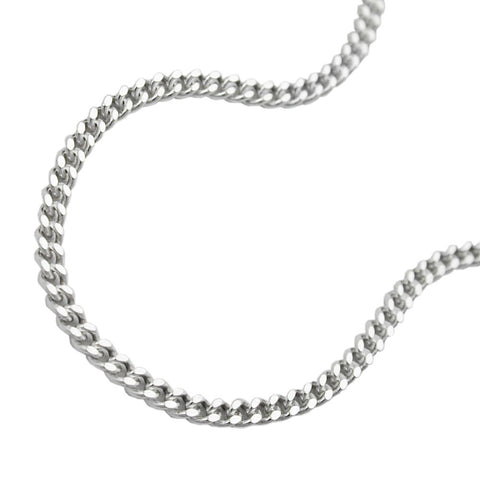 NECKLACE CURB CHAIN 70CM SILVER 925
