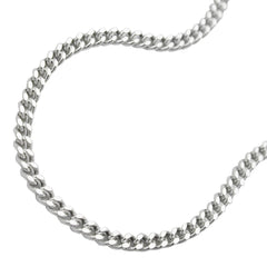NECKLACE THIN CURB CHAIN SILVER 925 55CM