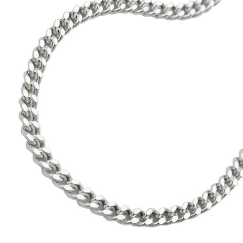 NECKLACE CURB CHAIN SILVER 925 45CM