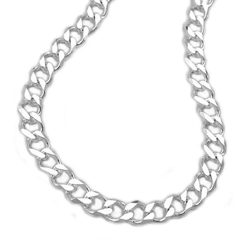 OPEN CURB CHAIN DIAMOND CUT SILVER 925 60CM