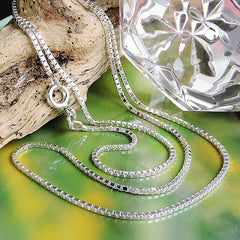 NECKLACE BOX CHAIN SILVER 925 60CM