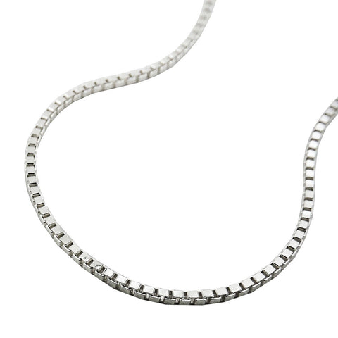 BOX CHAIN DIAMOND CUT 1.3MM SILVER 925 38CM