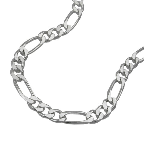 NECKLACE FIGARO CHAIN FLAT SILVER 925 50CM
