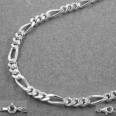 NECKLACE FIGARO CHAIN SILVER 925 45CM