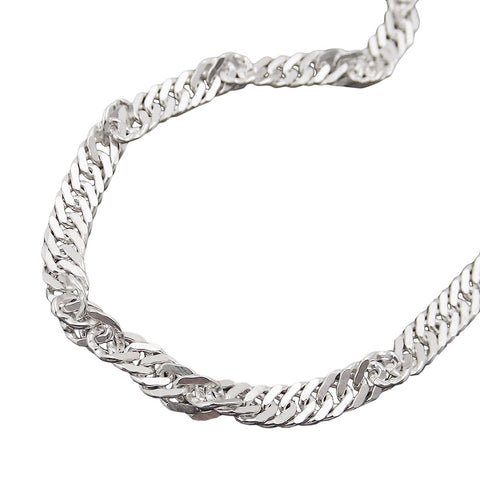 BRACELET SINGAPORE CHAIN 3MM SILVER 925 19CM