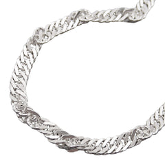 NECKLACE SINGAPORE CHAIN SILVER 925 60CM
