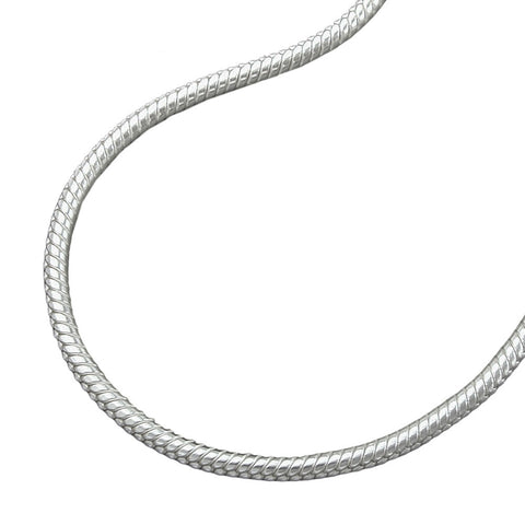 NECKLACE ROUND SNAKE CHAIN 1,3MM SILVER 925 38CM