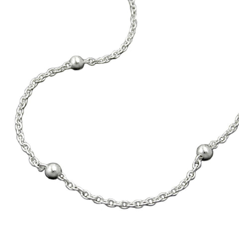 NECKLACE CHAIN WITH BALLS SILVER 925 42CM