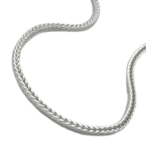 NECKLACE FOX TAIL CHAIN SILVER 925 50CM