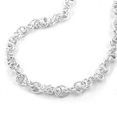 NECKLACE FANCY CHAIN SILVER 925 45CM
