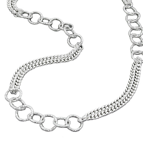 NECKLACE FANCY CHAIN SILVER 925 42CM