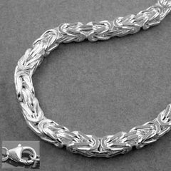 NECKLACE BYZANTINE CHAIN 4MM SILVER 925 55CM