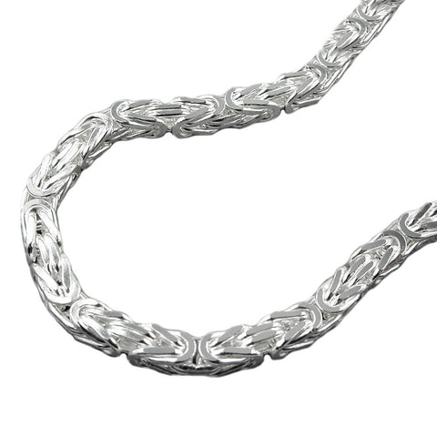 NECKLACE BYZANTINE CHAIN 4MM SILVER 925 60CM