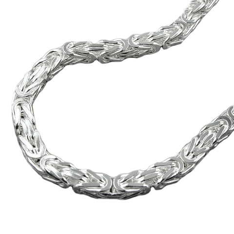 NECKLACE BYZANTINE CHAIN SILVER 925 70CM