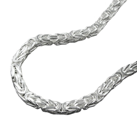 Byzantine chain 2mm square Silver 925