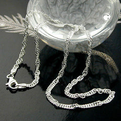NECKLACE SINGAPORE CHAIN SILVER 925 50CM