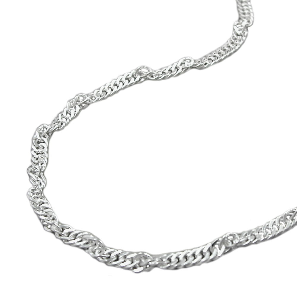 SINGAPORE CHAIN DIAMOND CUT SILVER 925 45CM