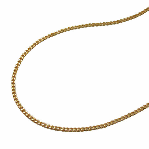 NECKLACE THIN CURB CHAIN GOLD PLATED 50CM