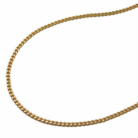 THIN CURB CHAIN DIAMOND CUT GOLD PLATED