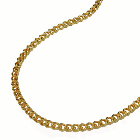 CURB CHAIN DIAMOND CUT GOLD PLATED