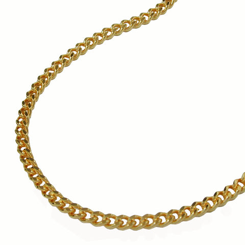 NECKLACE CURB CHAIN GOLD PLATED 60CM