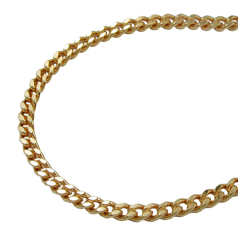 NECKLACE CURB CHAIN 2.6 MM GOLD PLATED 45CM