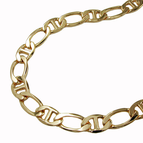BRACELET MARINER CHAIN DIAMOND CUT GOLD PLATED 19CM