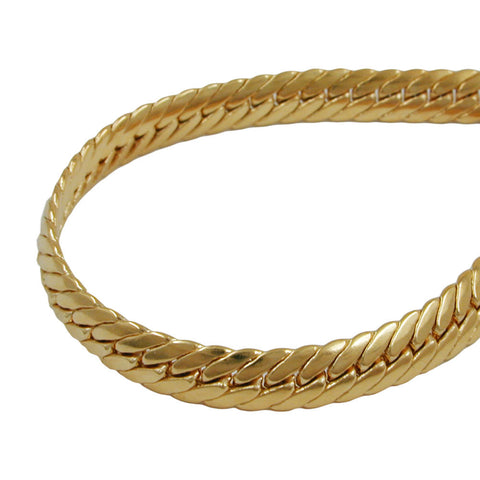 BRACELET OVAL CURB CHAIN 5 MM GOLD PLATED 21CM