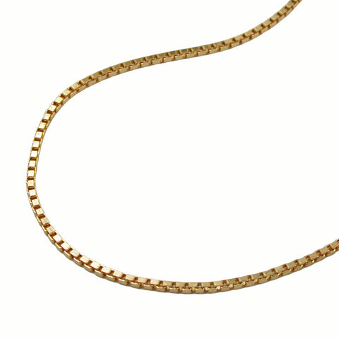 VENETIAN BOX CHAIN DIAMOND CUT GOLD PLATED