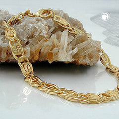 BRACELET SCROLL CHAIN 5MM GOLD PLATED 19CM
