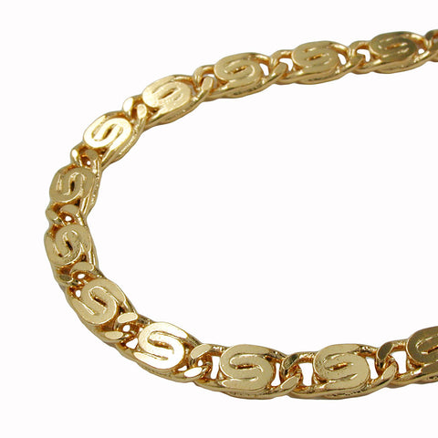 BRACELET SCROLL CHAIN 3.5MM GOLD PLATED