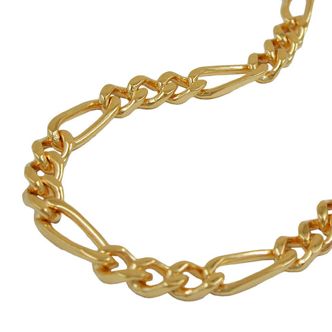 FIGARO CHAIN DIAMOND CUT GOLD PLATED