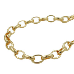 BRACELET ANCHOR CHAIN OVAL GOLD-PLATED 19CM