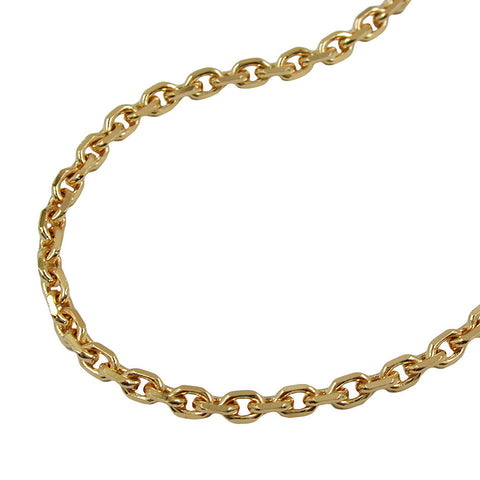 ANCHOR CHAIN DIAMOND CUT GOLD PLATED