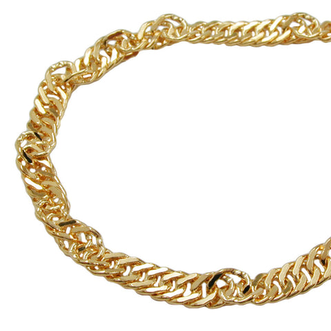 NECKLACE SINGAPORE CHAIN GOLD PLATED