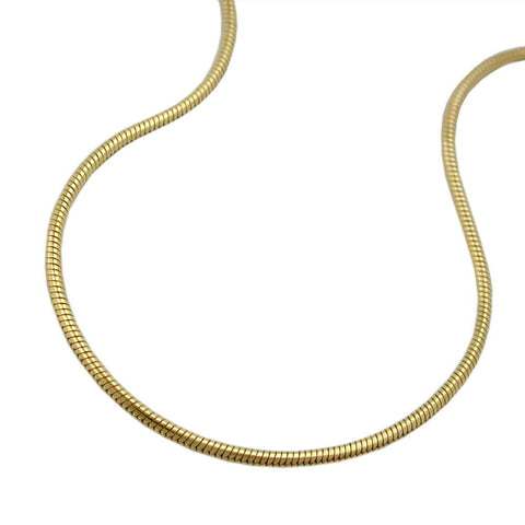 BRACELET 1MM SNAKE CHAIN GOLD PLATED