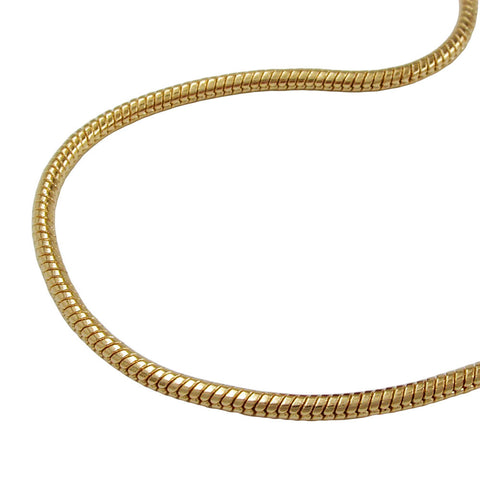 NECKLACE ROUND SNAKE CHAIN GOLD PLATED