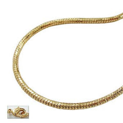NECKLACE ROUND SNAKE CHAIN GOLD PLATED 40CM
