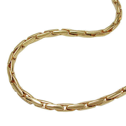 NECKLACE ROUND COBRA CHAIN GOLD PLATED 42CM