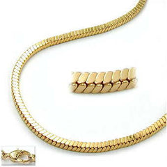 BRACELET CUBIC LINK CHAINS GOLD PLATED 19CM
