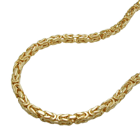 BRACELET 3MM BYZANTINE CHAIN GOLD PLATED