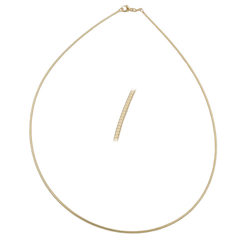 CHAIN NECKLACE TONDA ROUND 1.2MM GOLD PLATED