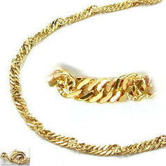 NECKLACE SINGAPORE CHAIN GOLD PLATED 40CM