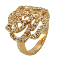 RING WITH ZIRCONIA ROSE GOLD PLATED 3 MICRON