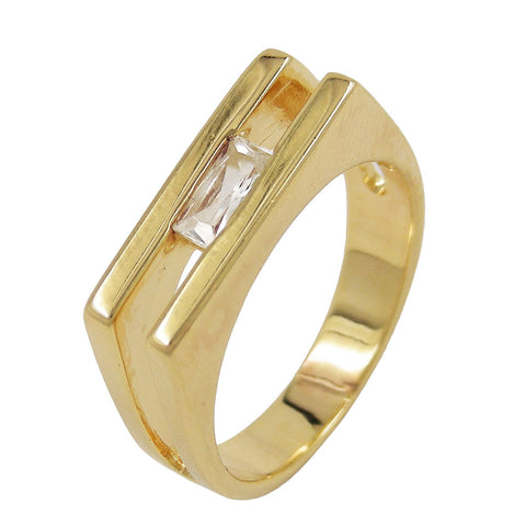 RING 18MM ZIRCONIA 18K GOLD PLATING