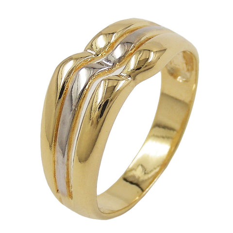 RING 8MM 18CT GOLD PLATED